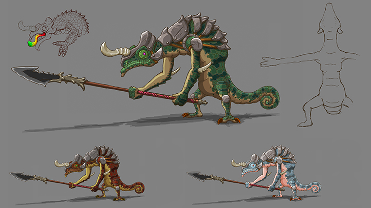Concept art of the enemy Lizalfos from the trailer that debuted during The Game Awards in December 2016.
